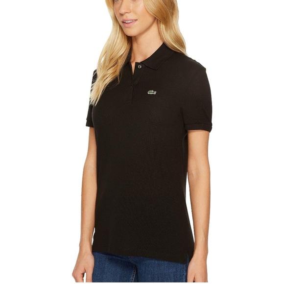 65d86ce567 Lacoste Black Polo Collared Shirt 40 Medium